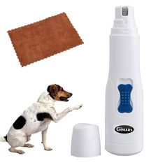 Gimars Gentle Quiet Electric Pet Paws Nail Trimmer Grinder File for Dogs, Cats and More Animals Grooming * For more information, visit image link.