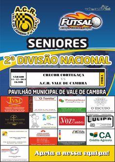 Futsal: Campeonato Nacional da 2.ª Divisão *CRECOR Cortegaça vs ACR Vale de Cambra* > 14 Dezembro 2013 - 16h30  #ValeDeCambra #futsal