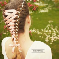 4 strand ribbon braids by Braidsandstyles12  Youtube Channel : https://www.youtube.com/channel/UC8ouEGIBm1GNFabA_eoFbOQ