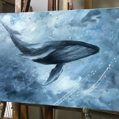 Dream of whales von anna mysskaya oiloncanvas whale whales oilpainting lwe aquarell simba thelionking amkaartist Whale Painting, Painting & Drawing, Acrylic Painting Animals, Whale Art, Wale, Wow Art, Ocean Art, Acrylic Art, Animal Paintings