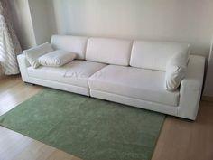 White Leather Sofa - Max2916A Apartment Living Room Design, Decor, Furniture, Sofa, Sofas, White Leather Sofas, Apartment Living Room, Home Decor, Room