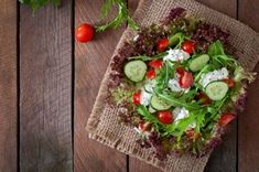Buy Useful dietary salad with cottage cheese, herbs and vegetables by Timolina on PhotoDune. Useful dietary salad with cottage cheese, herbs and vegetables Vegetable Stock, Cottage Cheese, Deli, Avocado Toast, Cobb Salad, Herbs, Healthy Recipes, Vegetables, Queso Fresco