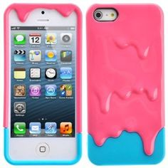 HB Hot Pink & Blue 3D Melt Ice Cream Detachable Hard Case Cover for iPhone5 5S HB HomeBoat(TM) http://www.amazon.com/dp/B00HQC69LY/ref=cm_sw_r_pi_dp_6WQ2tb11CWDPYFFX