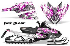 Arctic Cat M Series Cross Fire, PINK Snow Mobile