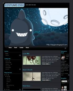 Costume CSS Blogger Template