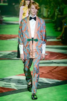 Gucci Spring 2017 Menswear Collection Photos - Vogue Art and Ideas Shared :  More At FOSTERGINGER @ Pinterest