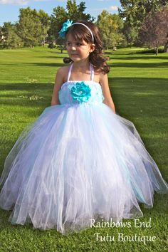 Enchanted Wishes  Flower Girl  Tutu Dress by Rainbows End Tutu Boutique, $50.00_ $70.00