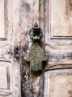 Hamsa, on a georgeous door