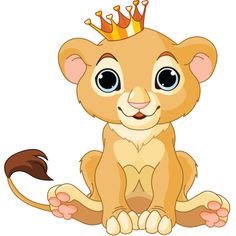 Baby lion king This little lion is regal in its handsome crown.