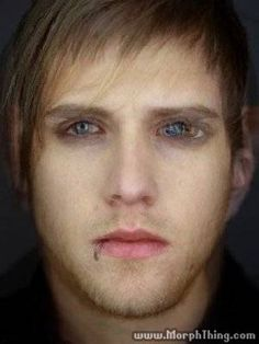 Morphthing morphs faces together! This is an image of Mikey Way and Bob Bryar Bob Bryar, Heartbreaking Quotes, Mikey Way, Black Parade, Gerard Way, My Chemical Romance, Faces, Guys, Celebrities