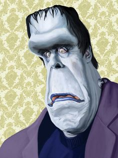Herman Munster caricature | Anthony Pascoe