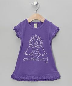 Take a look at this Purple Owl Ruffle Dress - Infant, Toddler & Girls by Born 4 Couture on #zulily today!
