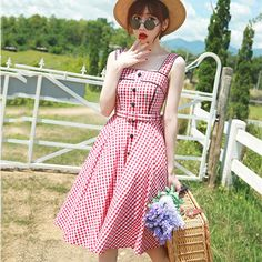 Aliexpress.com : Buy 2015 New summer vintage braces plaid dresses Audrey Hepburn retro 50s 60s rockabilly swing sundress dress from Reliable dress patterns prom dresses suppliers on Hangzhou Boby Technology Co., Ltd