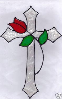 Imitación de vitrales Cruz Rosa ventana se aferran | Hogar y jardín, Decoración y herrajes para ventanas, Otros productos para ventanas | eBay!