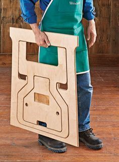 A unique design transforms a single piece of plywood into sturdy, versatile shop helpers. Sawhorse Plans, Folding Sawhorse, Woodworking Bench Plans, Learn Woodworking, Easy Woodworking Projects, Diy Wood Projects, Woodworking Jointer, Woodworking Equipment, Workbench Plans