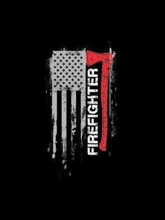 'American Firefighter Shirt' Sleeveless Top by WarmfeelApparel Firefighter Stickers, Firefighter Crafts, Firefighter Apparel, American Firefighter, Firefighter Paramedic, Wildland Firefighter, Firefighter Quotes, Firefighter Tattoos, Digital Art