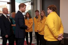 Prince Harry Photos - Prince Harry meets with the Commonwealth War Grave Commission (CWGC) volunteers before the Rugby Union International match between England and Argentina at Twickenham Stadium on November 11, 2017 in London, England. - Prince Harry Attends England V Argentina Rugby Match