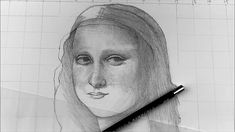 How To Draw MONA LISA: Step by Step ( with mask on)