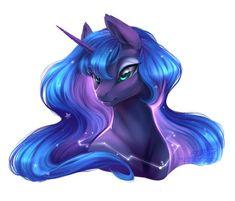 Luna is my favorite pony :) Princesa Celestia, Celestia And Luna, Unicornios Wallpaper, Nightmare Moon, Mlp Fan Art, Spyro The Dragon, My Little Pony Drawing, My Little Pony Merchandise, My Little Pony Pictures