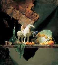 David Leffel - T'ang Horse and Chinese Lanterns, 1996