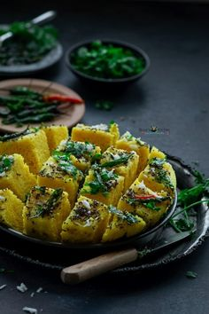 Oct 5, 2019 - Khaman Dhokla is very common food in Gujarat, India. It is made of gram flour. Khaman Dhokla generally eaten as a snack. It is a part of the Gujarati Thali.