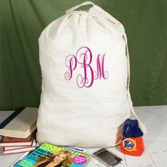 Script Monogrammed Laundry Bag - $26.00