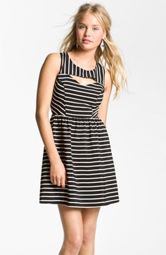 Lush Keyhole Cutout Dress (Juniors) available at #Nordstrom