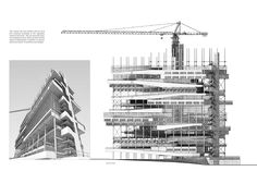 After-image architecture project, Newcastle University, concept, development and drawings