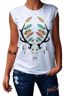 Women's T-Shirt EVERLASTING PEACE - 100% Made in Italy - 100% Cotton - BOHO COLLECTION http://www.doubleexcess.com/