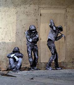 French Street Art That's Guaranteed To Make You Look Twice pics) 3d Street Art, Street Art Banksy, Murals Street Art, Street Art News, Urban Street Art, Amazing Street Art, Art Mural, Street Artists, Arte Banksy