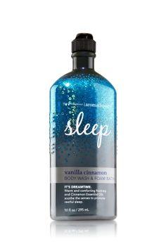 Bath and Body Works Sleep bubble bath in Vanilla and Cinnamon