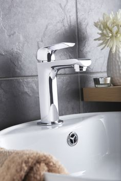 For a cool contemporary look, the Hero range in classic chrome brings any bathroom up to date.