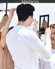 "[June 2. 2016] "" W-Two Worlds"" Poster Photoshoot  #Leejongsuk & #hanhyojoo  Cr: KBSTV"
