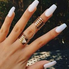 coffin style gel nails - Google Search
