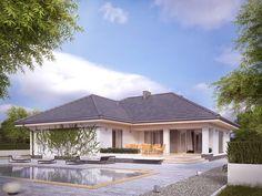 Projekt Ambrozja 6 (165,32 m2) to nowy projekt domu parterowego z zadaszonym tarasem. Pełna prezentacja projektu znajduje się na stronie: https://www.domywstylu.pl/projekt-domu-ambrozja_6.php. #ambrozja #projekty #domów #gotowe #domy #projekt #architektura #wnetrza #interiors #insides #home #houses #domywstylu #mtmstyl #aranżacje