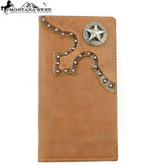Click Here and Buy it on Amazon.com Price:	$28.99 Montana West Mens Genuine Leather Unique Round Rivet Western Lone Star Studded Bifold Wallet in Camel Brown Montana West,http://www.amazon.com/dp/B00F3SXTH0/ref=cm_sw_r_pi_dp_wlumsb0G1RKVP8WE