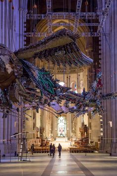 Xu Bing's sculptures inside St. John the Divine