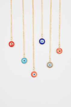 EVIL EYE Necklace, Minimal Necklace, Layering Necklace, Layered Necklace, Layer Necklace, Gold Plated Necklace, Dainty Necklace #bestofEtsy #gifts