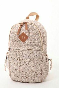 crochet inspiration ONLY. Crochet Case, Free Crochet Bag, Love Crochet, Diy Crochet, Crochet Handbags, Crochet Purses, Crochet Stitches Patterns, Crochet Designs, Crochet Backpack
