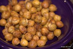 Recipes We Love: Roasted Chickpeas --- GREAT Snack and salad topper