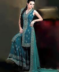 teal wedding sharara Frm bd: Indian Wedding Dresses