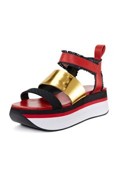 A Brief History Of The Wedge — & 16 Pairs To Wear ASAP #refinery29  http://www.refinery29.com/best-wedge-sandals#slide-5  It's sporty and chic in all the right ways.