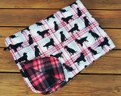 Holiday Throw Blanket, Fleece and Flannel, Holiday Blanket, Dog Lovers, Holiday Quilt, Pet Lovers Blanket, Lap throw, Christmas Blanket by Sew4MyLoves on Etsy