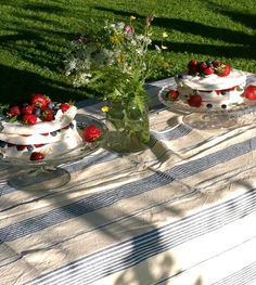 What could possibly be better than a Pavlova cake in a sunny summer day?   Two Pavlovas! :)