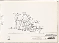papress: Lebbeus Woods' Sketchbooks As part of what must be an. Architecture Art Design, Architecture Collage, Education Architecture, Architecture Drawings, Architecture Portfolio, Classical Architecture, Concept Architecture, Foster Architecture, Landscape Architecture