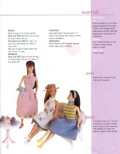 Gallery.ru / Фото #42 - 3 - tymannost Barbie Knitting Patterns, Knitting Dolls Clothes, Barbie Clothes Patterns, Crochet Barbie Clothes, Doll Clothes Barbie, Barbie Dress, Knitted Dolls, Doll Patterns, Barbie Doll