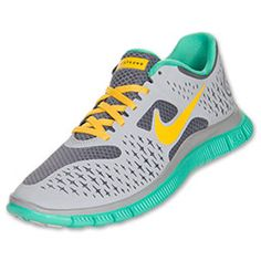 Women's Nike Free Run+ 4 LAF  Cool Grey/Wolf Grey/Crystal Mint/Maize