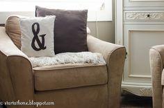 Start at Home: DIY Monogram Pillow
