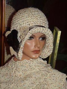 Crochet-Flapper-Hat-Cloche-1920s-Theme-Ivory