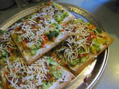 no cook veggie pizza | Cold Vegetable Pizza